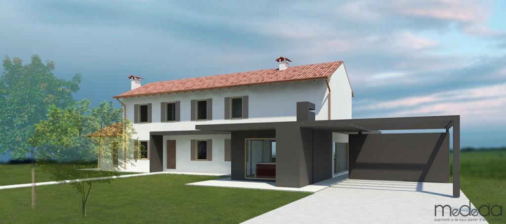 Progetto casa moderna top slogan del disegno progetto for Esterno ville foto